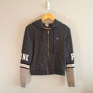 Gray PINK Victoria's Secret jacket 💕